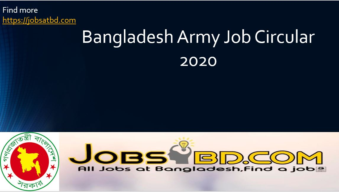 Job Circular of Bangladesh Army-2020