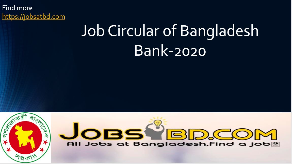 Photo of Job Circular of Bangladesh Bank-2020