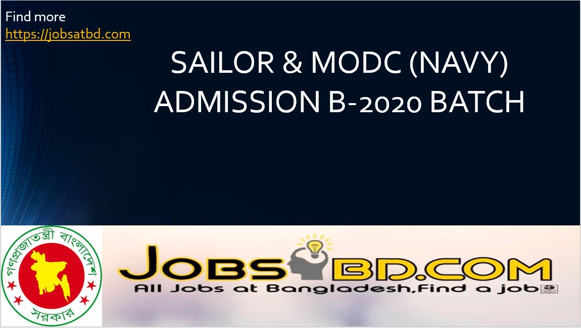 SAILOR & MODC (NAVY) ADMISSION B-2020 BATCH