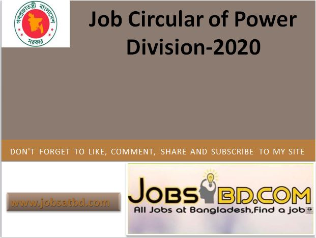 Job Circular of Power Division-2020