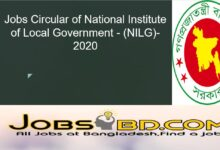 Photo of Jobs Circular of National Institute of Local Government – (NILG)-2020