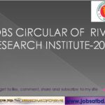 JOBS circular of  River Research Institute-2020